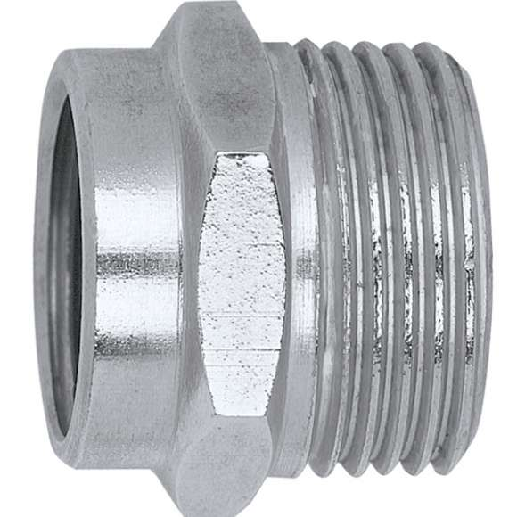 383 - Female fitting - olive coupling. Chrome plated