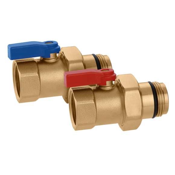 391 - Par krogličnih ventilov  z O-Ring tesnilom