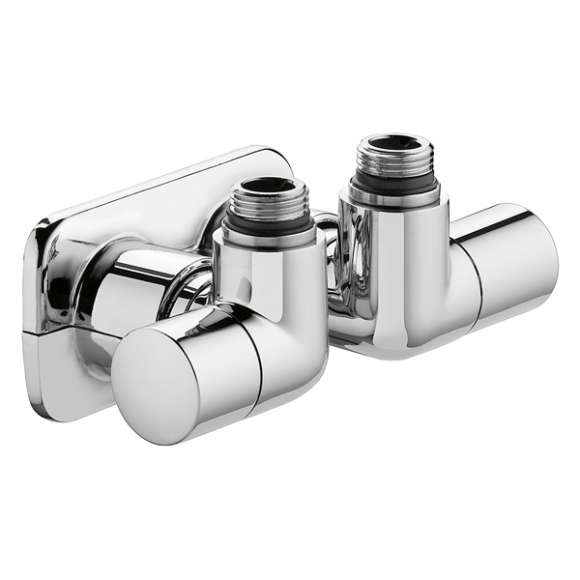 4003 - HIGH-STYLE. Double angled convertible radiator valve fitted for designer heating systems