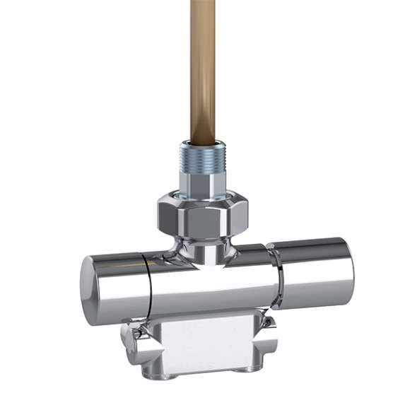 4005 - Termostatik kontrol başlığı ve termal vana motoruyla kullanılmaya uygun dönüştürülebilir radyatör vanası. Krom kaplama. Fabrika ayarı tek borulu sistemler için, iki borulu sistemlere ayarlanabilir. Sağ versiyon