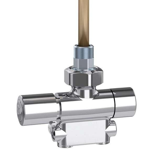 4005 - Termostatik kontrol başlığı ve termal vana motoruyla kullanılmaya uygun dönüştürülebilir radyatör vanası. Krom kaplama. Fabrika ayarı tek borulu sistemler için, İki borulu sistemlere ayarlanabilir. Sol versiyon