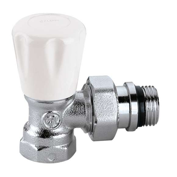 411 - Angled manual radiator valve for steel pipes