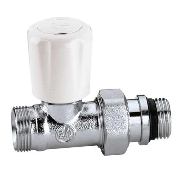 426 - Válvula termostatizável.Com pré-regulação.Ligação direita.PE-X