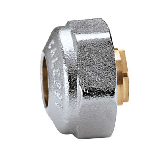 447 - Pre-assembled compression fitting for copper and steel pipes, with O-Ring seal