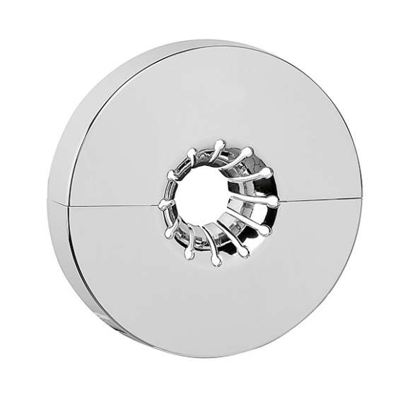 4499 - Single wall-covering plate.  Chrome plated