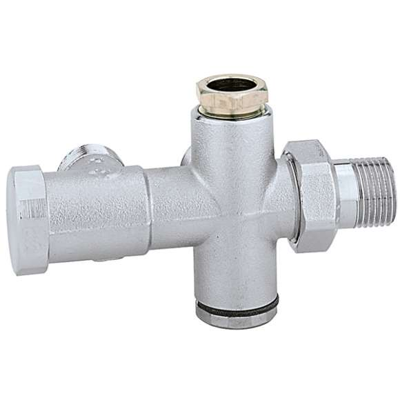 452 - Radiator valve for two-pipe systems for Ø 15 mm outside probe (454 series)