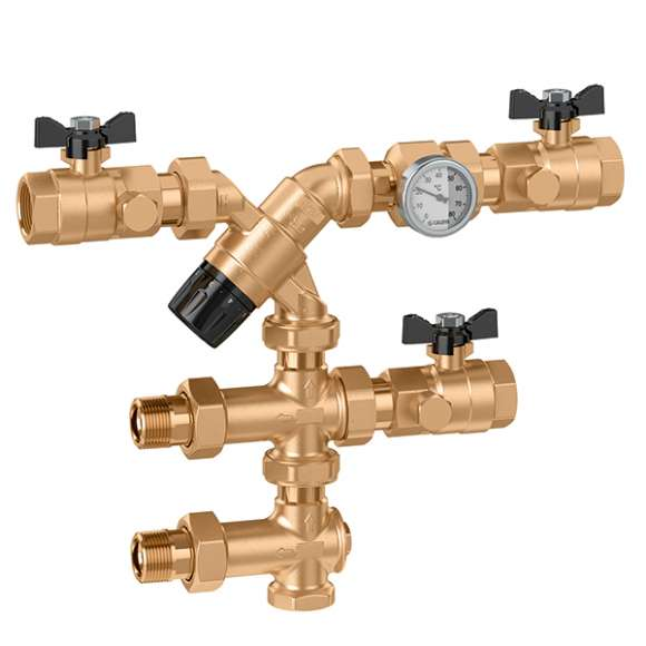 5201 gruppo di controllo temperatura acqua calda sanitaria for Connessioni idrauliche di acqua calda sanitaria