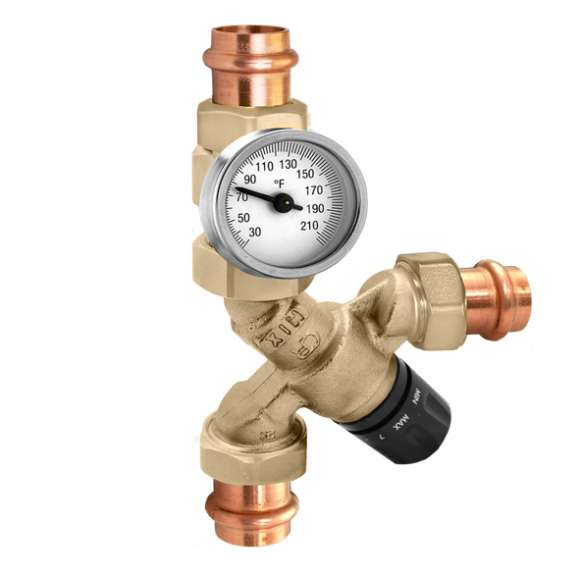 520 - AngleMix™ Thermostatic Mixing Valve (with temperature gauge)