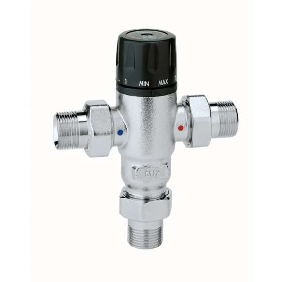 521 - Adjustable, anti-scale thermostatic mixing valve