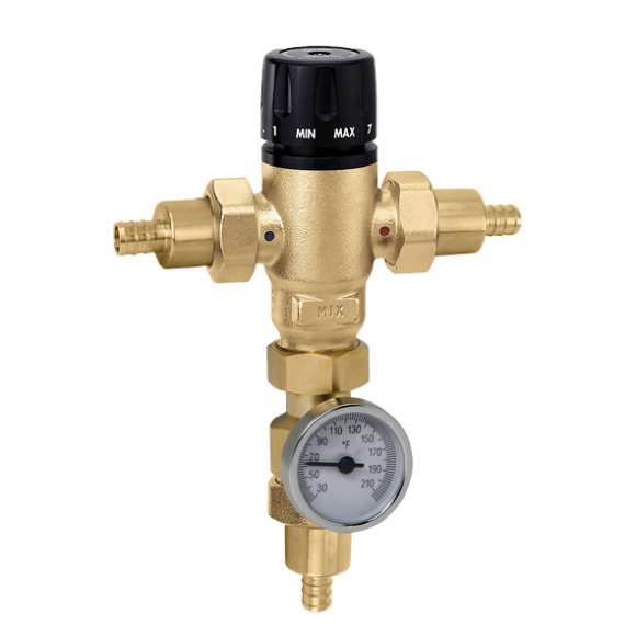 521 - MixCal™ Adjustable Thermostatic and Pressure Balanced Mixing Valve (PEX crimp and expansion)