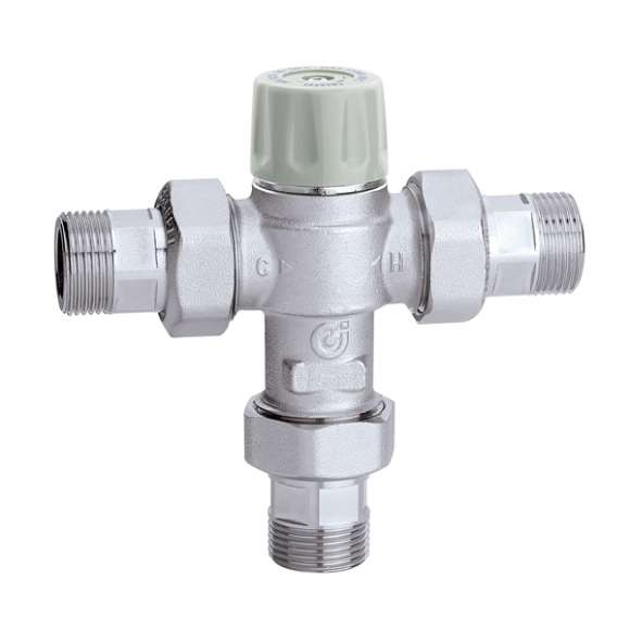 5217 - Thermostatic mixing valve, adjustable with knob and with anti-scald function