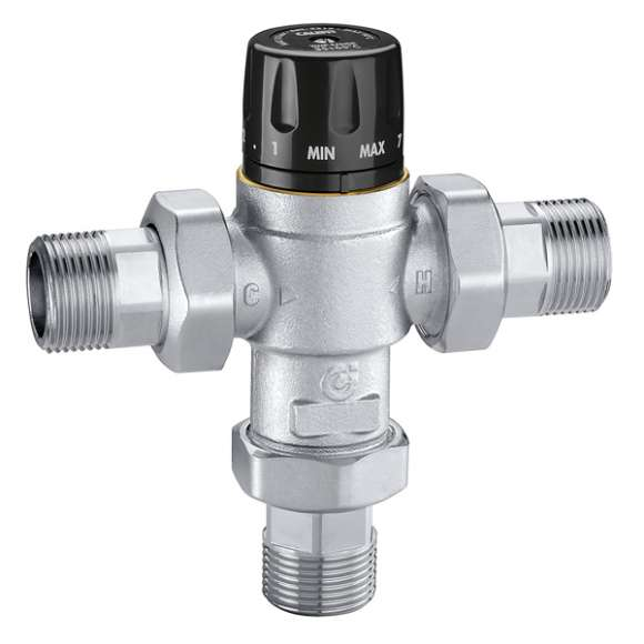 5219 - Tempering adjustable valve with knob. With thermal shut-off function