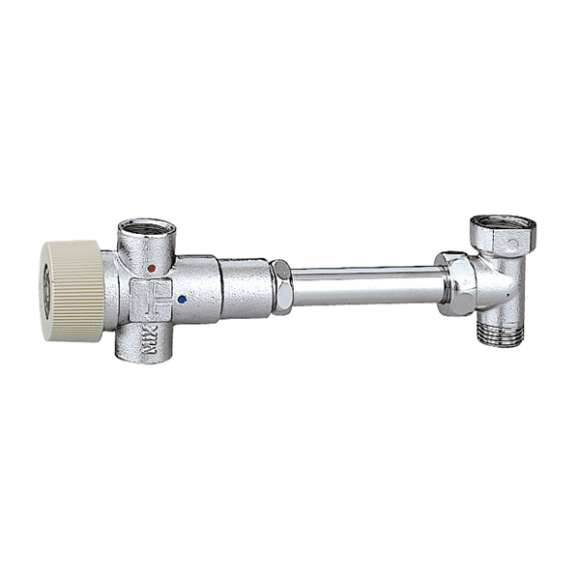 522 - Adjustable thermostatic mixing valve for hot water storage heaters