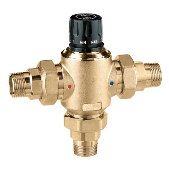 5230 - Adjustable thermostatic mixing valve, with replaceable cartridge for centralised systems