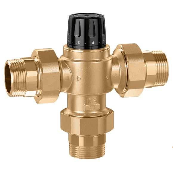 5231 - Misturadora termostática para instalações centralizadas. Corpo em liga antidezincificação.