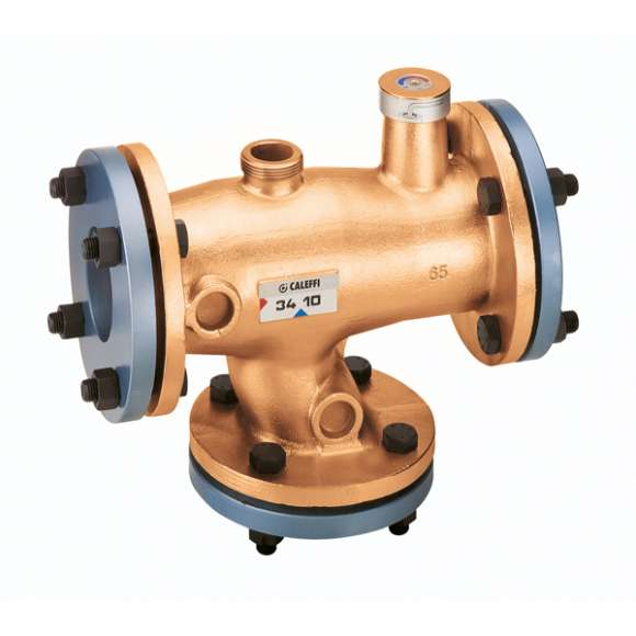 524 - Adjustable thermostatic mixing valve - bronze body. Flanged connections