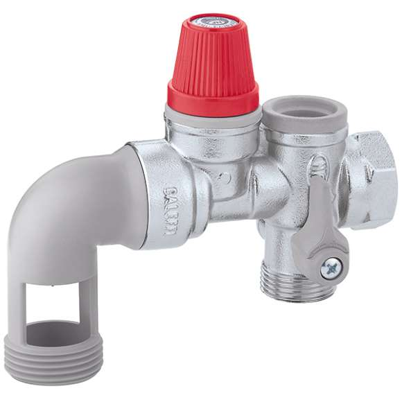 5261 - Hydraulic safety group for hot water storage heaters for horizontal mounting