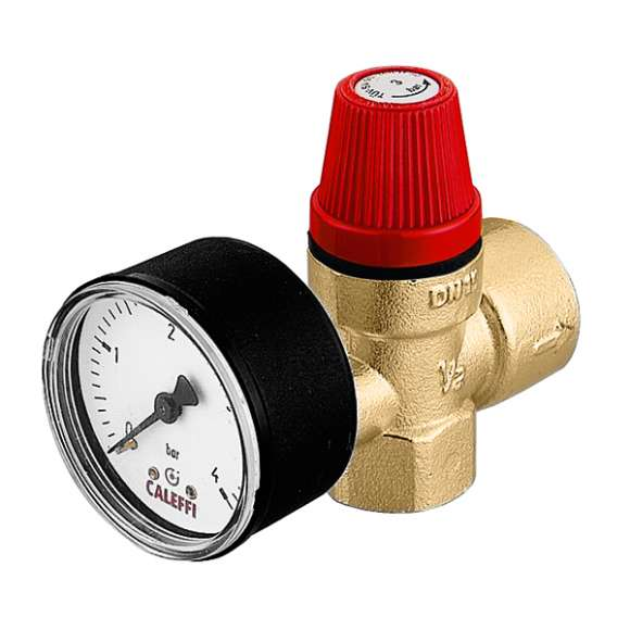 5321 - Safety relief valve. Female connections. With pressure gauge
