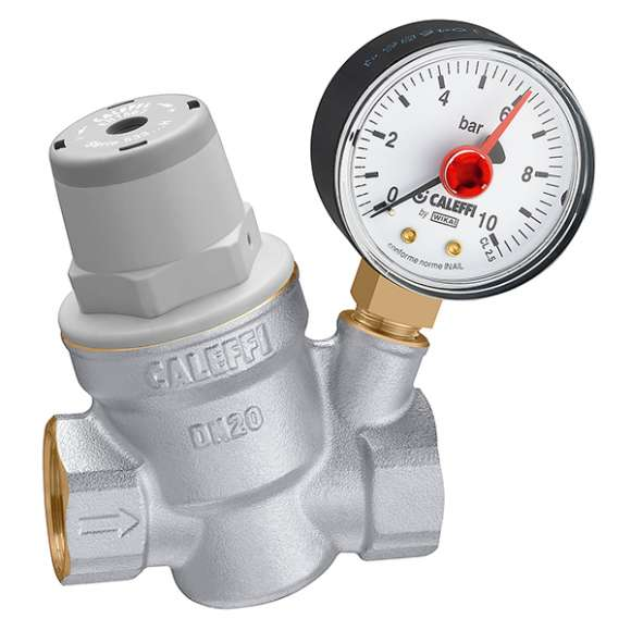 5332..H - Inclined pressure reducing valve. For high temperature.With pressure gauge