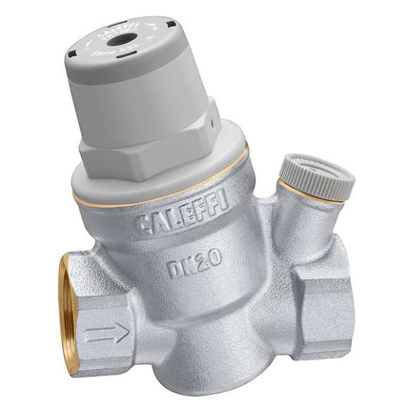 "5334..H - Inclined pressure reducing valve. For high temperature. With 1/4"" F pressure gauge connection"