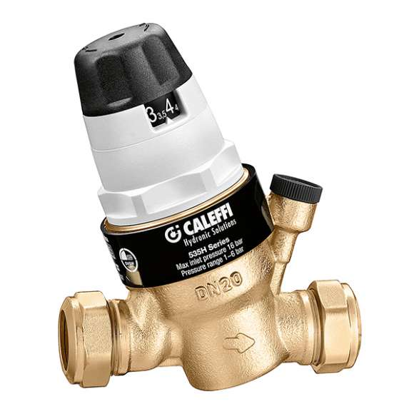 5350..H - Pressure reducing valve with self contained replaceable cartridge.Compression ends connections