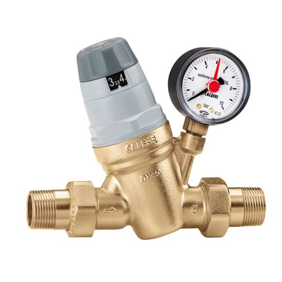 "5350 - Pressure reducing valve with self-contained replaceable cartridge, with pressure gauge or pressure gauge connection. 1/2""-2"""