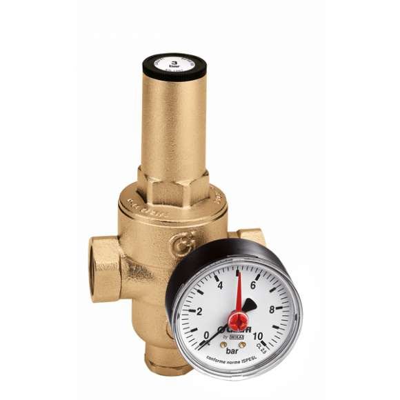 5362 - Pressure reducing valve with replaceable cartridge, with pressure gauge or connection. Female connections