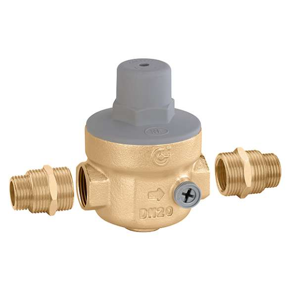 "539 - Pressure reducing valve with 1/4"" F double pressure gauge connection"