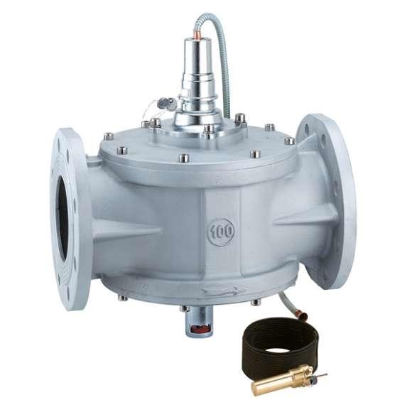 540 - Ventil za zatvaranje dovoda goriva. Telo od aluminijuma. Prirubnički priključci
