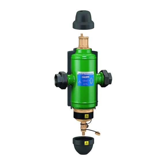 5461 - DISCALDIRTMAG - Odvzdušňovač - odlučovač s magnetom. Vnútorné závity, s izoláciou.