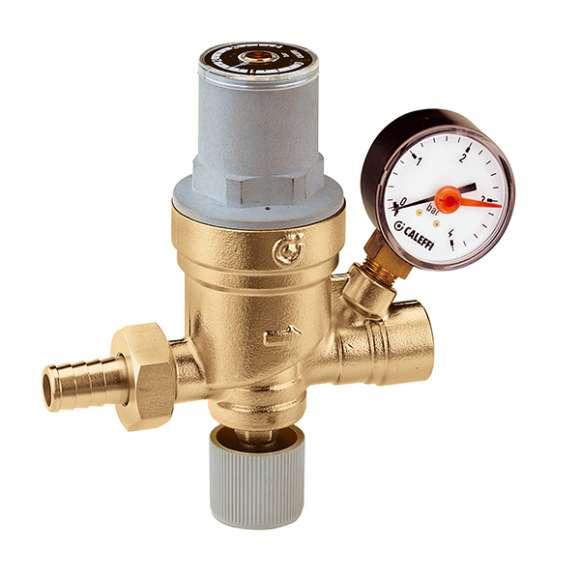 553 - Avtomatski polnilni ventil, nastavljiv, s prikazovalnikom tlaka, filtrom, zapornim in nepovratnim ventilom