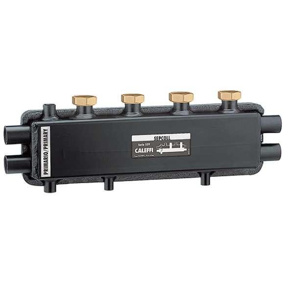 559 - SEPCOLL - Separador hidráulico-coletor para instalações de aquecimento. De encaixe 2+1.