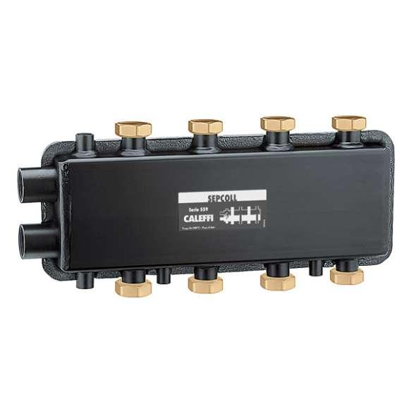 559 SEPCOLL 2+2 - Hidravlični separator-kolektor, za zunanjo uporabo 2+2, medosna razdalja 125 mm