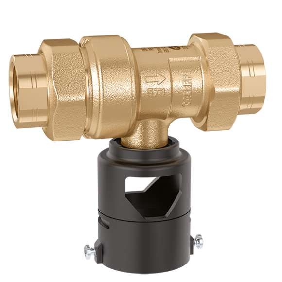 573 - Non controllable backflow preventer with different pressure zones. CAa type. Brass body