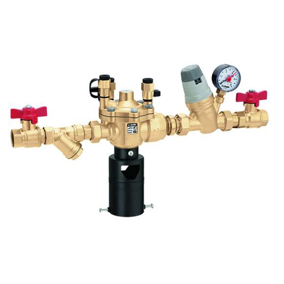 574 - Automatic charging unit with BA type backflow preventer, Y-strainer and shut-off valve