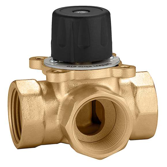 610 - Three-way sector mixing valve,threaded connections.