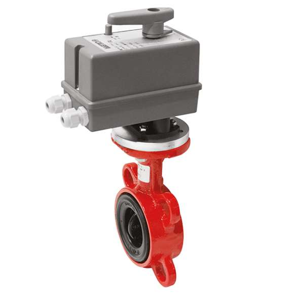 639 - Motorised butterfly valve, WAFER type. DN 32÷80