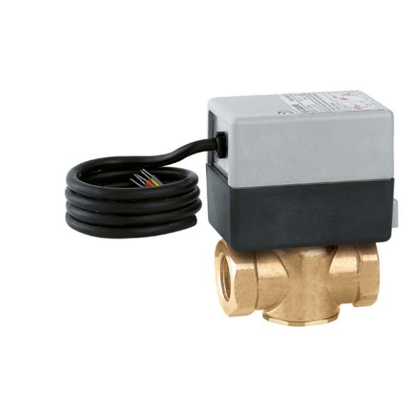 642 Z-ONE™ - Two-way motorised zone valve. With auxiliary microswitch