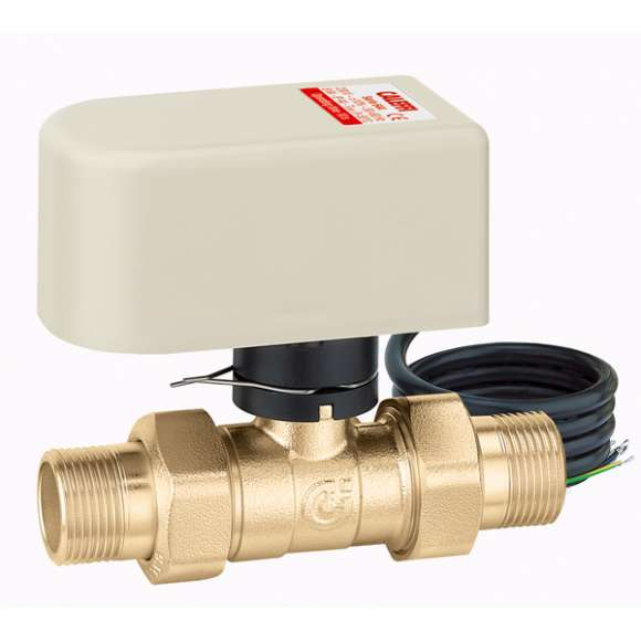6442 - Motorised two-way valve. Equipped with actuator with 3-contact control. With auxiliary microswitch. Operating time: 10 s