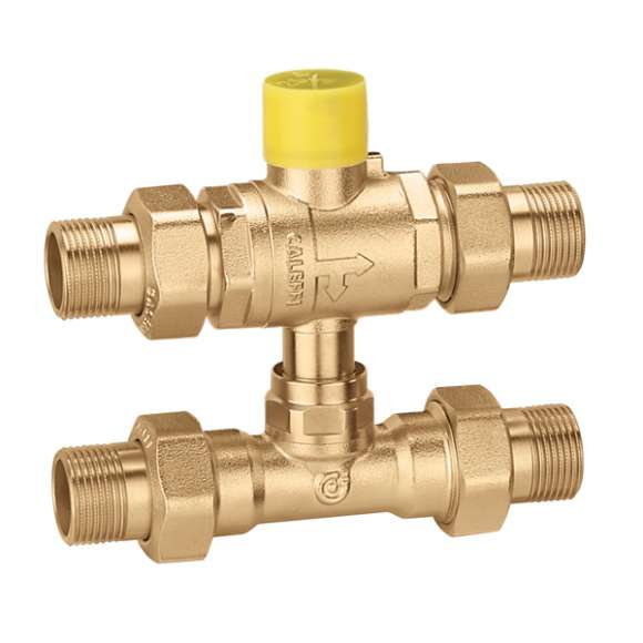 6489 - Three-way ball zone valve with by-pass tee