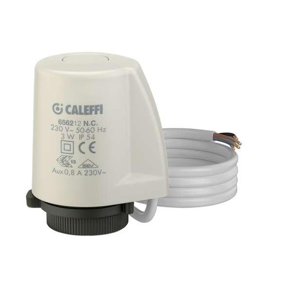 6562 - Comando eletrotérmico de instalação de encaixe rápido, adaptador, clip e micro-interruptor auxiliar.