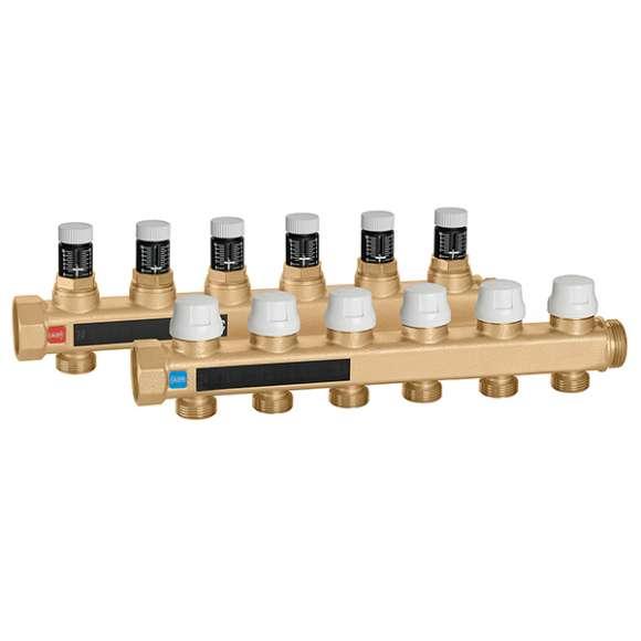 662 - Set collectoren voorzien van afsluiters en voorinstelbare micrometrische inregelventielen