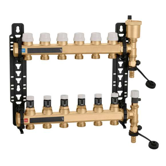 662 - Pre-assembled distribution manifold with polymer mounting brackets