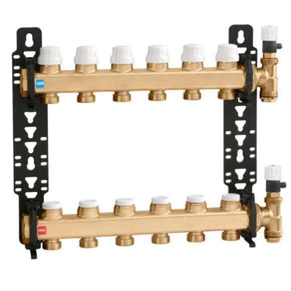 662 verteiler f r fu bodenheizung 1 abg nge 3 4 caleffi germany. Black Bedroom Furniture Sets. Home Design Ideas
