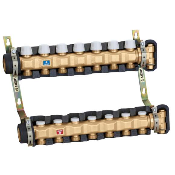 663 - Pre-assembled distribution manifold for air conditioning systems. With insulation