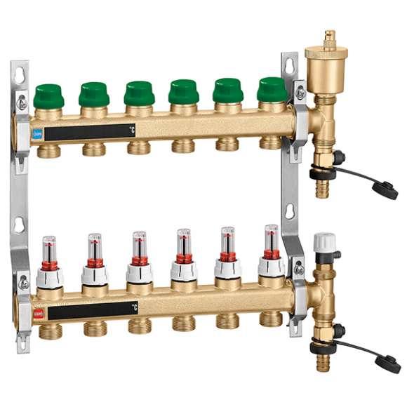 665 - DYNAMICAL® - Collettore di distribuzione dinamico premontato per impianti a pannelli