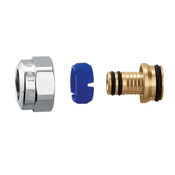 679 - DARCAL - Adaptador para tubagem multicamada para trabalho contínuo a alta temperatura. 23 p.1,5. Cromado.