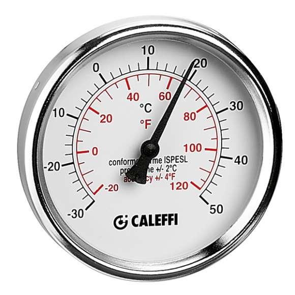 """687 - Termómetro para arrefecimento. Ligação posterior 1/2""""."""