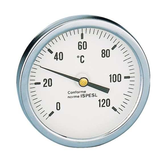 688 - Termometr. Przyłącze środkowe, tylne 1/2″