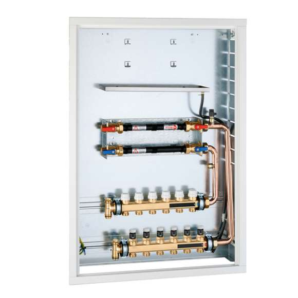 70006 - Recessed box for PLURIMOD with distribution manifold for radiant panel systems.